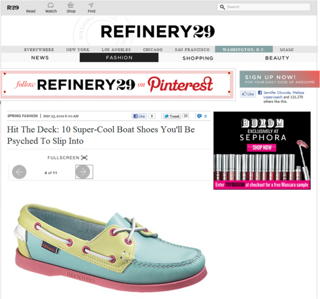 Thanks refinery29 for the reminder that boat shoes are all the craze