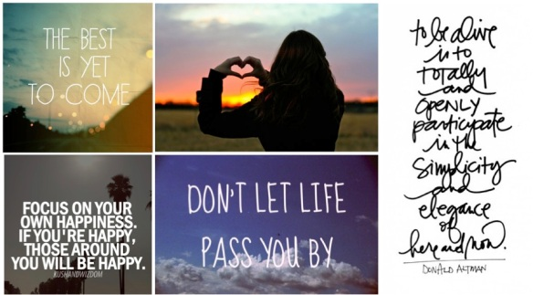 life quotes collage