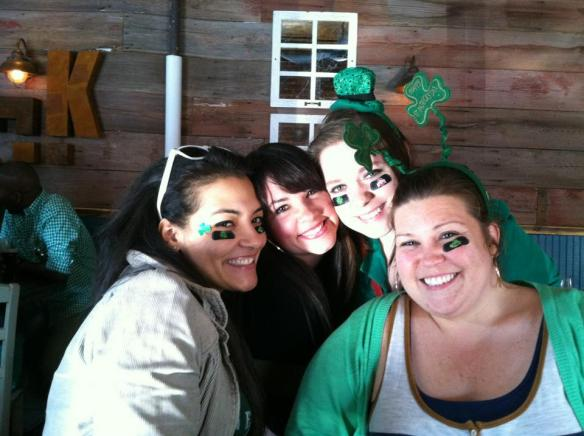 The Girls on St. Paddy's Day